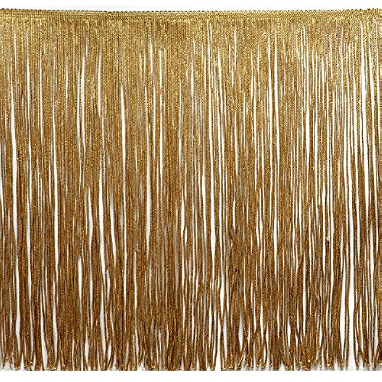 Expo International 20-Yard Chainette Fringe Trim, 12-Inch, Gold
