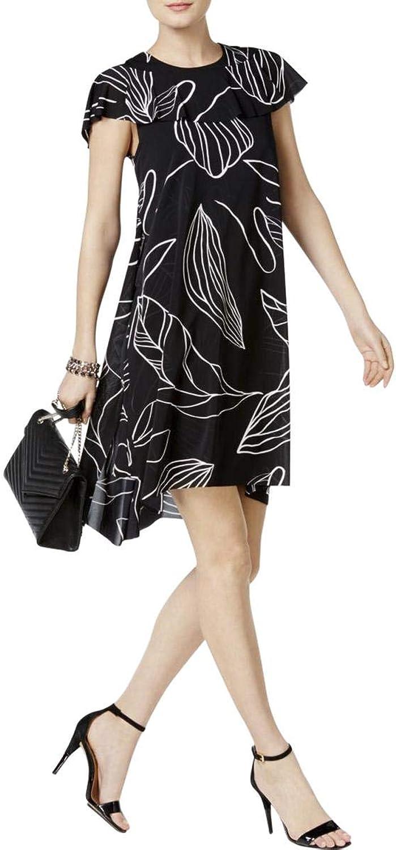 Alfani Womens HighLow Cape Flounce Dress
