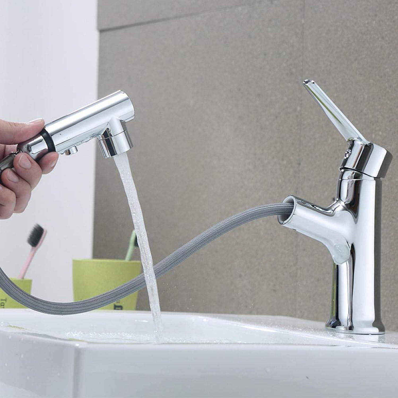 DOMOUDOHahn-Zeichnung Wasserhahn heien und kalten Waschbecken Waschbecken Bad Bad Einloch-Becken Teleskop über Aufsatzbecken Kupfer-Wasserhahn