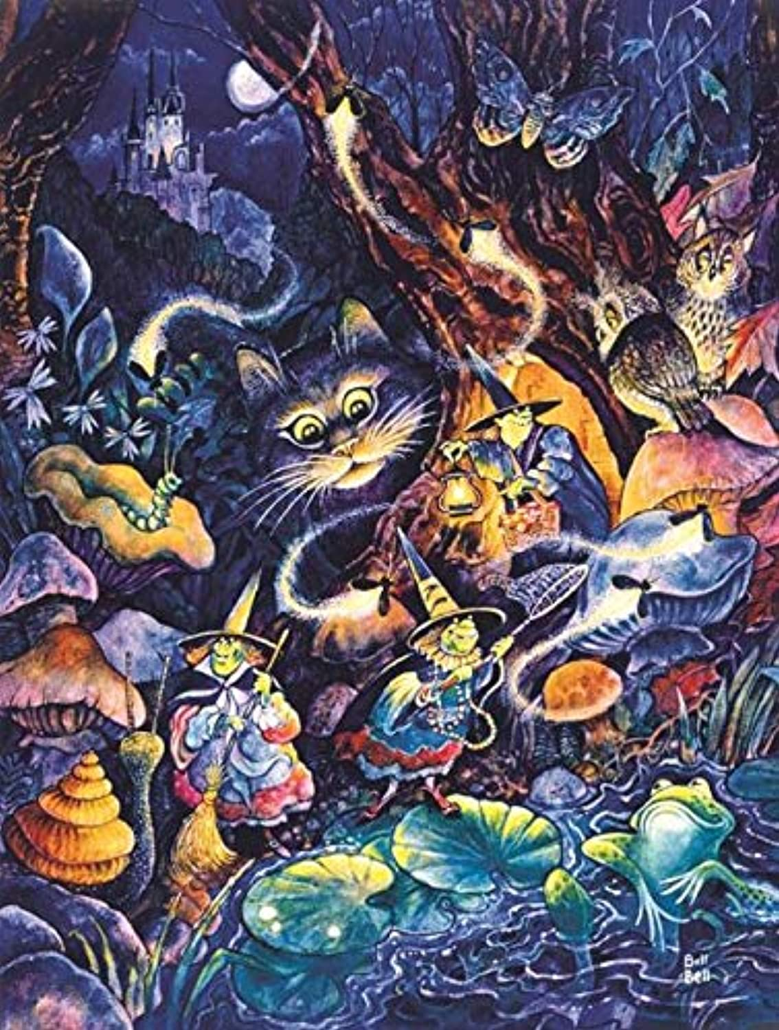 Three Witches 500 pc Halloween Jigsaw Puzzle by SunsOut