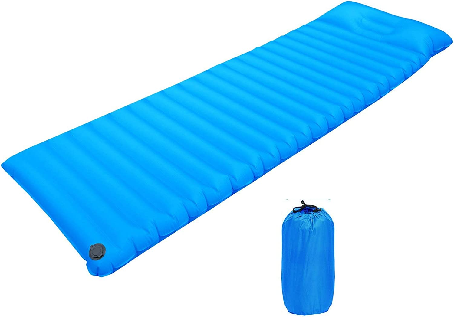 SYF Camping Sleeping Pad, TPU Fast Inflatable Air Mattress Lounger Sofa Sleeping Mats for Adults with Airbag, Portable Waterproof Lazy Bed Sleeping Pad for Hiking Traveling Pool Camping Beach Park A+