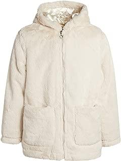 Girls' Soft Fur Jacket with Hood