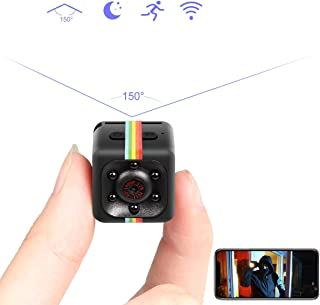 Mini Spy Hidden Camera, Catnee Spy Camera Wireless Hidden Cameras 1080P Portable Small HD Nanny Cam with Night Vision and Motion Detective, Indoor Covert Security Cameras for Home and Office (Black)