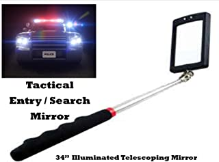 Police Fire Security Illuminated Tactical Duty Entry / Search Mirror - Telescopes out to 34