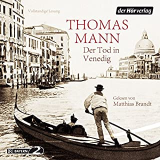 Der Tod in Venedig                   By:                                                                                                                                 Thomas Mann                               Narrated by:                                                                                                                                 Matthias Brandt                      Length: 3 hrs and 21 mins     3 ratings     Overall 4.0
