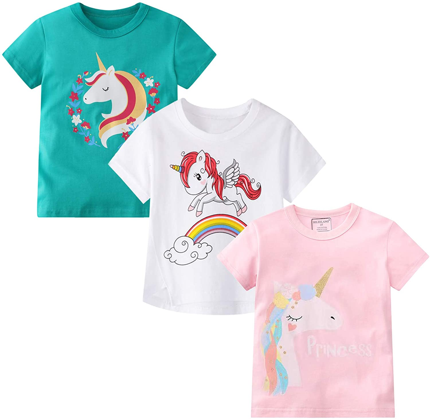 Opening large release sale Toddler Girl Tees Short Sleeve T Shirt Unicorn Cr Summer Graphic Max 76% OFF