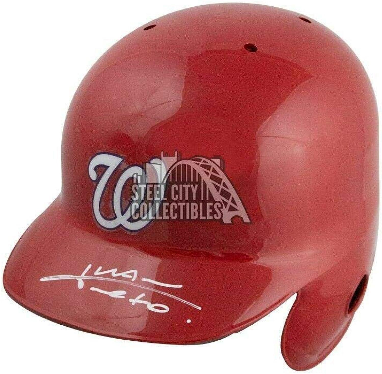 Juan Soto Autographed Washington Nationals Authentic Baseball Batting Helmet BAS  Beckett Authentication