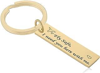 "AMdxd Key Chains Stainless Steel Keychain for Women Men"" Silver Keychain Accessories"