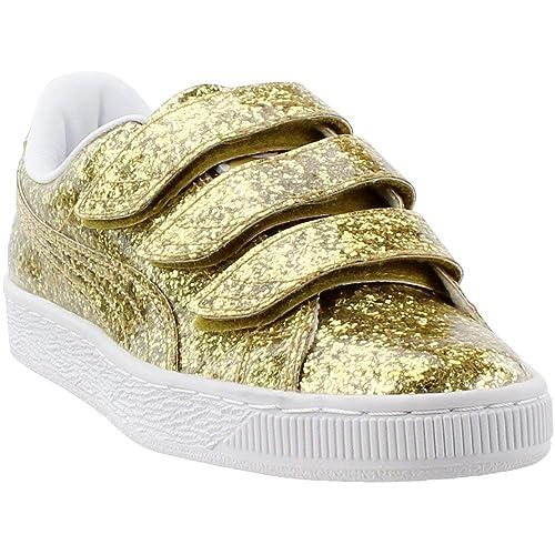 PUMA Women s Basket Strap Glitter Sneakers 8b25be09b