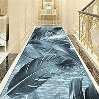 ラグ カーペット 滑り止めキッチンマットドアの入り口玄関スーパー吸収性アンチは、任意の長さ2色を屋内&屋外ランナーラグカーペット廊下カーペットランナーダニ (Color : B, Size : 0.6x4m)