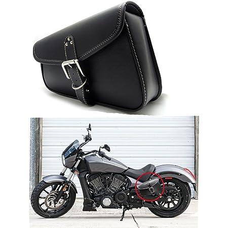 1 Stück Motorrad Satteltaschen Leder Pu Wasserdichte Links Satteltasche Motorrad Side Gepäck Werkzeugtasche Schwarz Auto