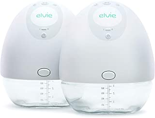Elvie Pump Double Silent Wearable Breast Pump with App - Electric Hands-Free Portable Breast That Can Be Worn in-Bra