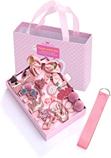 Enkarl Baby Girl's Hair Clips Cute Hair Bows Elastic Ties Accessories Gift Box