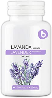 Bobica's Premium European Organic Lavender Capsules | 250 mg | 90 Vcaps® | Relieves Stress and Anxiety | GMO Free, Gluten ...