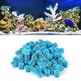 Tenpac Bola Bio para pecera, Bola Bio Duradera para Acuario, para Proporcionar filtración biológica 1.6x1.5cm / 0.6x0.59in Filtración de pecera Azul