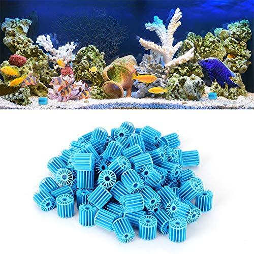 Evonecy Matériel de filtrage d'aquarium, Boule Biologique d'aquarium Durable, Boule Bio filtrante, 1,6x1,5 cm/0,6x0,59in pour la Filtration d'aquarium Bleu fournissant Une Filtration Biologique