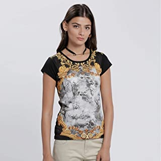 Smiley World T-Shirts For Women, Multi Color S