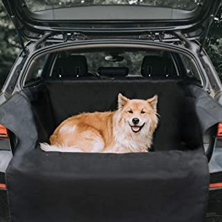 Kharic Kofferraumschutz für Hunde mit Seitenschutz   Universelle Auto Kofferraum Hundedecke Inklusive Ladekantenschutz   Kleinwagen, SUV und Kombi Kofferraumdecke   Wasserdichte Kofferraumschutzmatte