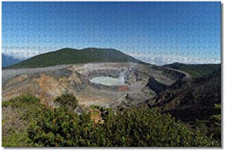 Costa Rica Poas Volcano Jigsaw Puzzles for Adults Kids 1000 Pieces Wooden Puzzle Game for Gifts Home Decoration Special Tr...