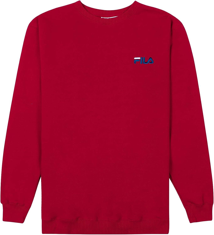 FILA Sweatshirts for Men, Crewneck Sweatshirt, Big and Tall Mens Sweatshirt