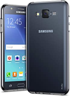 Galaxy J7 Case, Aeska Ultra [Slim Thin] Flexible TPU Gel Rubber Soft Skin Silicone Protective Case Cover for Samsung Galaxy J7 2015 (Clear)