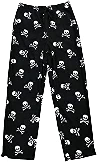 Skull and Crossbones Micro Plush Lounge Pants Young Mens Adult