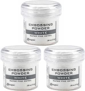 Ranger Embossing Powder White Super Fine Detail .60 oz, 3 Pack