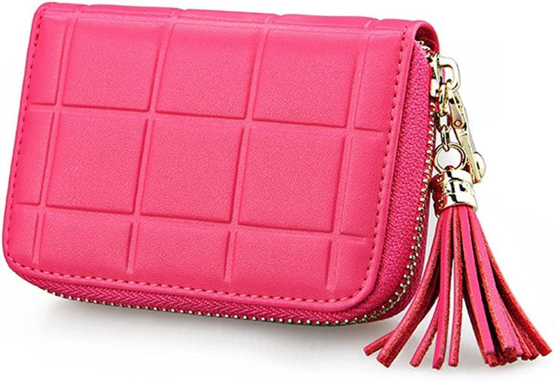 Mädchen RFID RFID Blocking Echtes Leder Geldbörse Geldbörse Geldbörse Mini Pouch Change Wallet mit Quasten B07F3VVYVW f43b34
