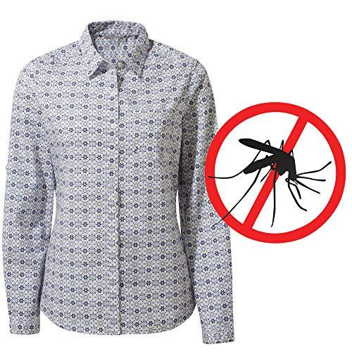 Craghoppers Damen Bluse Langarm Kiwi mit Mückenschutz, Blau, 48