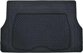 Motor Trend Heavy Duty Rubber Cargo Mat Trunk Liner for Car SUV Auto (Black) - Odorless All Weather