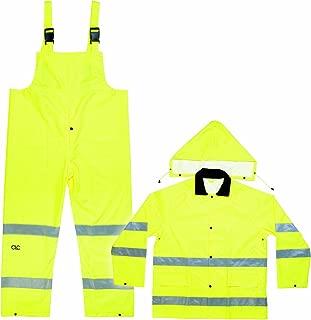 CLC Custom Leathercraft R1112X 2-Piece ANSI 3 Polyester Rain Suit with Detachable Hood, 2XL