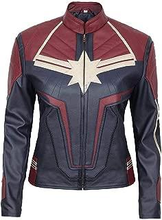 Endgame Brie Larson Costume Captain Marvel Leather Jacket