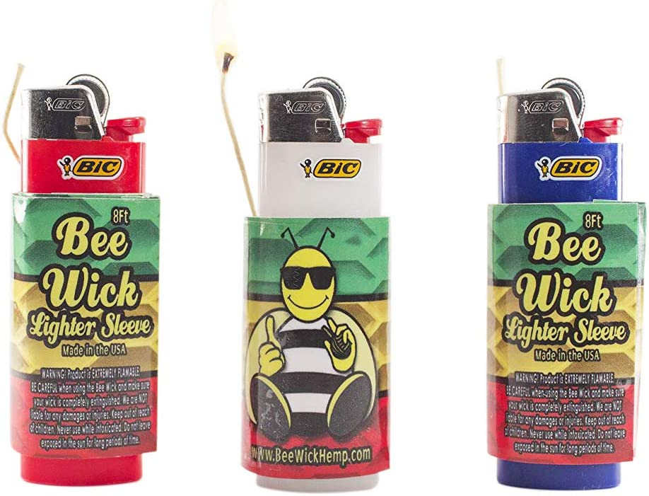 Bee Wick Luxury goods Hemp Dispenser Lighter Sleeve 8 Each FT Outlet sale feature 3 Pack