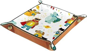 HOHOHAHA Składana taca do toczenia kości ze skóry PU uchwyt na kości pudełko do gier do D&D, RPG, gry stołowe lub na biurk...