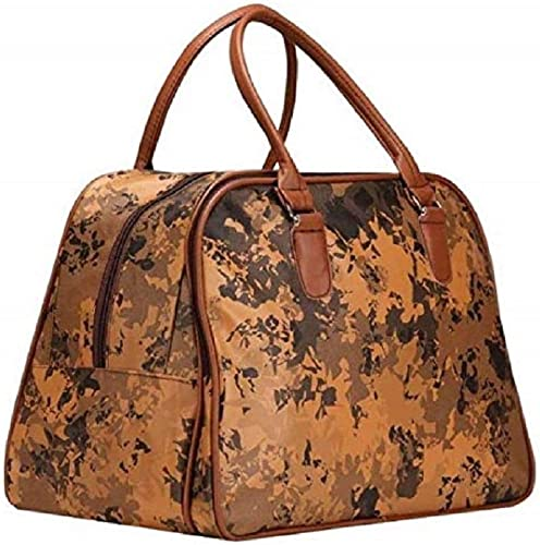 Leather Bag Travel Duffle for Men and Women Brown