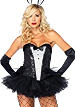 Sequin Tuxedo Corset Adult Costume - Large