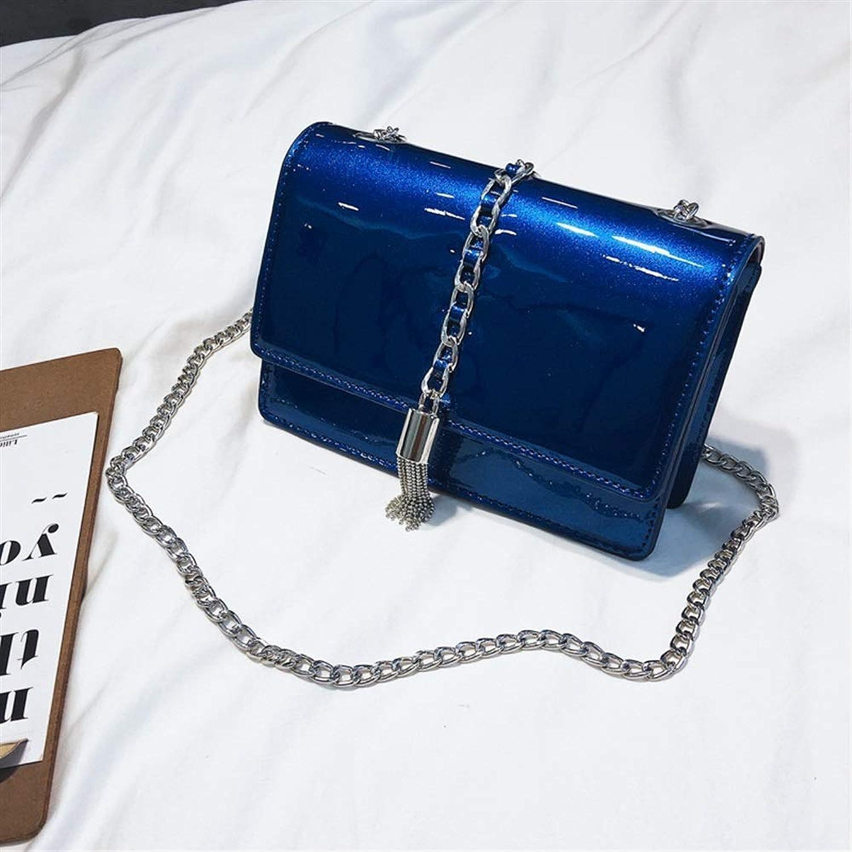 MEIDI Home Bright Leather Quaste Chain Damen Schulter Crossbody Crossbody Crossbody Umschlag Paket (Blau) B07LF7K8HB 2ebf77
