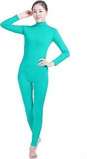 Shiningstar Girls' Women's Well-Fit Turtleneck Spandex Long Sleeve Back Zipper Footless Unitard