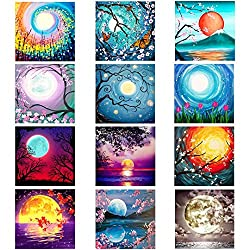 top rated XPCARE 12 Pack 5d Diamond Painting Kit Home Round Full Drill Acrylic Cross Stitch… 2021