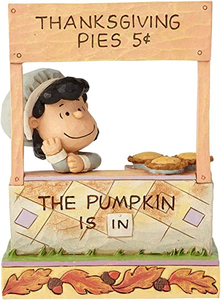 Department56 Enesco Peanuts By Jim Shore Lucy Thanksgiving Pie Stand Figurine