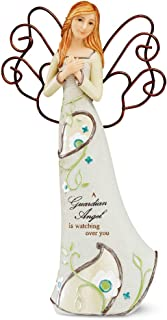 Perfectly Paisley Guardian Angel Figurine by Pavilion, 9-Inch Tall, Inscription a Guardian Angel is Watching Over You