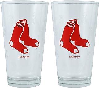 MLB Boston Red Sox Boelter Pint Glasses 2-Pack