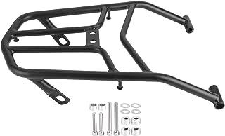 Rack de bagagem traseiro para motocicleta, prático suporte para para-choque traseiro de motocicleta preto com alta dureza ...