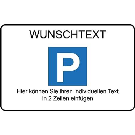 Parkplatzschild Wunschtext Alu Dibond 300x200 Mm Für Garage Hotel Parkplatz Schule Carport Firma Baumarkt