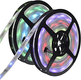 6803 IC RGB Magic Dream Color Multicolors LED Strip Lights Full Set (Strip Lights + Remote Controller + Power Adapter) Waterproof IP67 Tube Covered (10m/32ft)