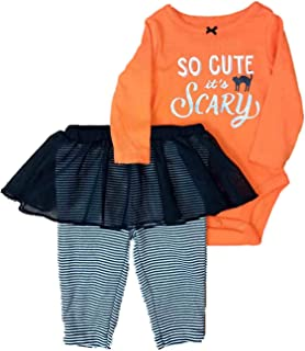 Infant Girls Halloween Outfit So Cute Its Scary Bodysuit & Leggings