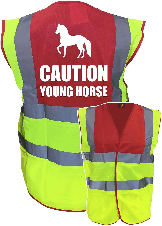 KIDS YOUNG HORSE EQUESTRIAN HI VIZ VIS VEST EQUINE REFLECTIVE SAFETY RIDING