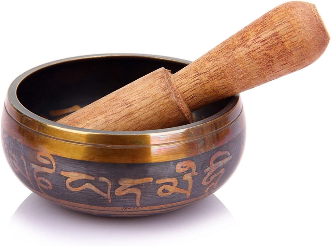WPJ Cuencos Tibetanos Cuenco de Cuenco Tibetano, Cuenco de meditación de Sonido, CREA un Sonido Hermoso para la curación holística, la meditación y la relajación (Size : 8.5cm)