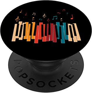 Music Notes Colorful Keyboard Piano PopSockets Grip and Stan