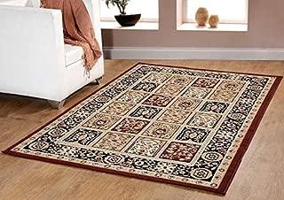 Furnish my Place Traditional Oriental Medallion Area Rug, Persian Style Carpet Maharaja 618, Coffee